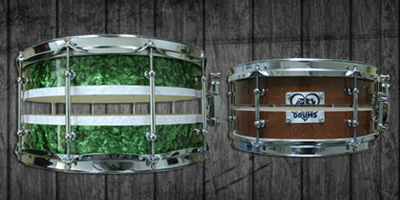 Split Shell Snare Drums