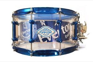 Clear Acrylic Chamber Shell / Birch Inner / Candy Blue Hardware