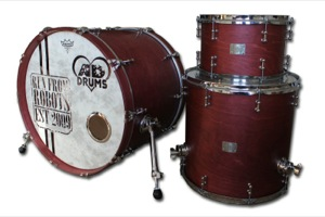 Deep Red Satin Stain / Chrome Hardware