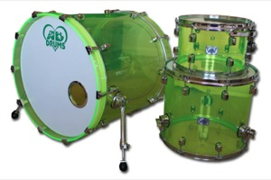 Lime Green Acrylic / Chrome Hardware