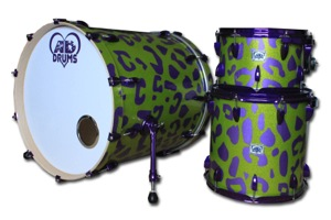 Lime Green Sparkle With Purple Sparkle Leopard Print / Purple Candy Hardware