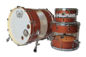 Copper Sparkle Hybrid With Clear Acrylic Band / Chrome Hardware