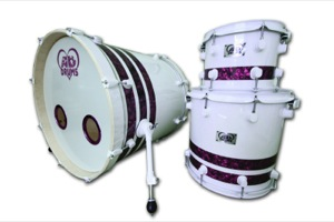 Gloss White Wrap With Purple Pearl Pinstripes / White Hardware