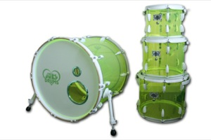 Lime Green Acrylic / White Hardware