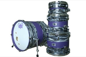 Oyster Pearl Hybrid Look With Purple Paint Inlay / Chrome Hardware