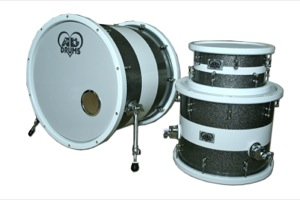 Custom Graphite Sparkle With White Band & Chunky Wooden Hoops/ Chrome Hardware