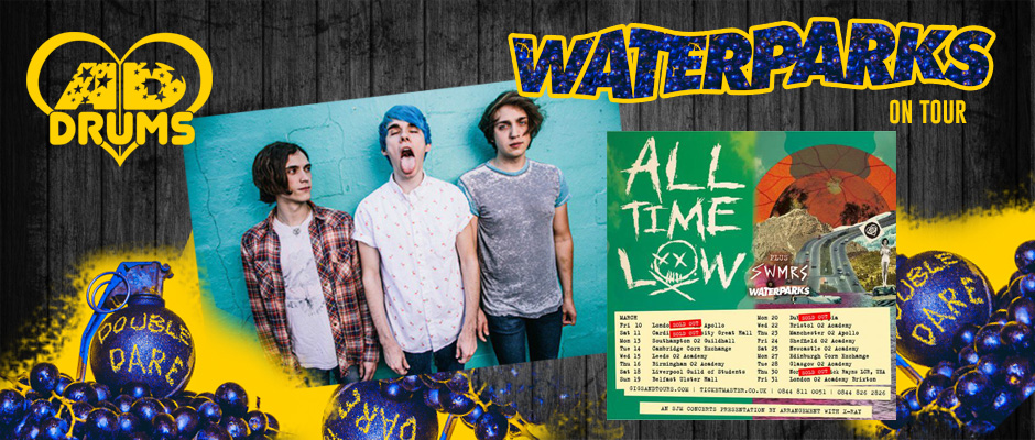waterparks playing AD Drums on tour